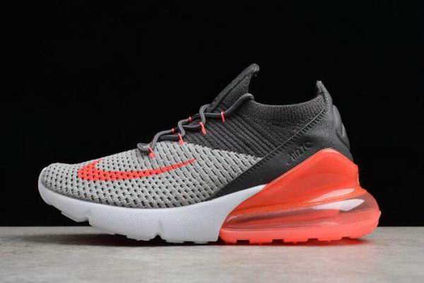 Cheap Mens and WMNS Nike Air Max 270 Flyknit Black Grey Orange White AO1023-202