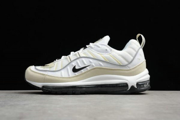 Cheap Mens and WMNS Nike Air Max 98 Sail White Black-Fossil-Reflect Silver AH6799-102