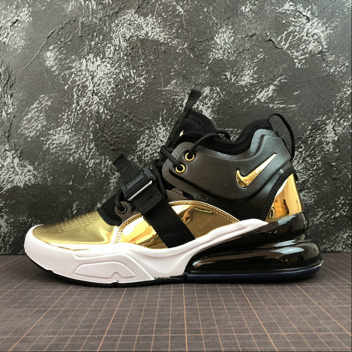 Cheap NIKE AIR FORCE 270 CT16 QS AT5752-700 BLACK GOLD NOIR OR