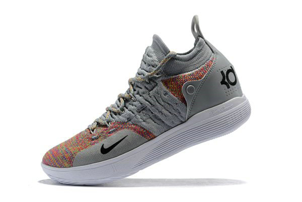 Cheap New Nike KD 11 Cool Grey Multi-Color Mens Basketball Shoes