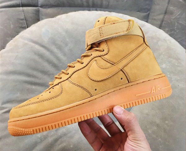 Cheap Nike Air Force 1 High Wheat Flax Flax-Outdoor Green For Sale