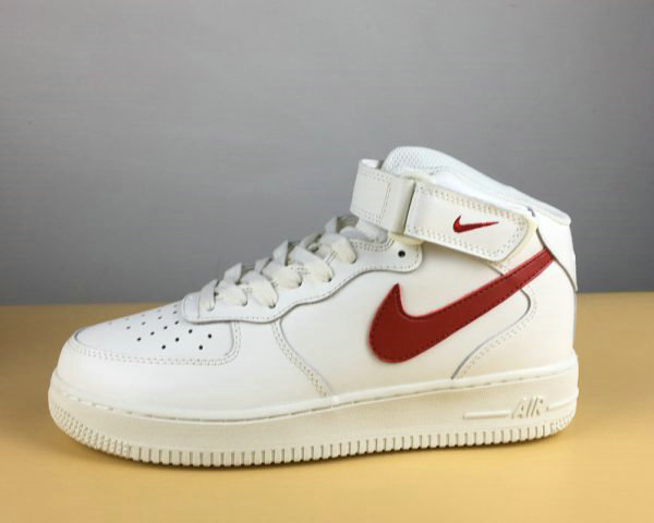 Cheap Nike Air Force 1 Mid 07 Sail University Red For Sale