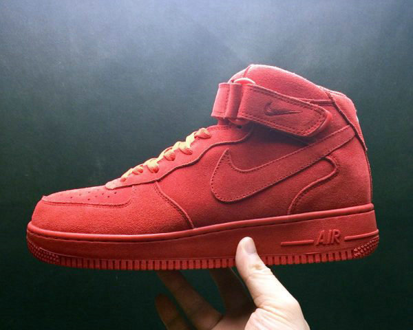 Cheap Nike Air Force 1 Mid Gym Red-Gym Red-White For Sale