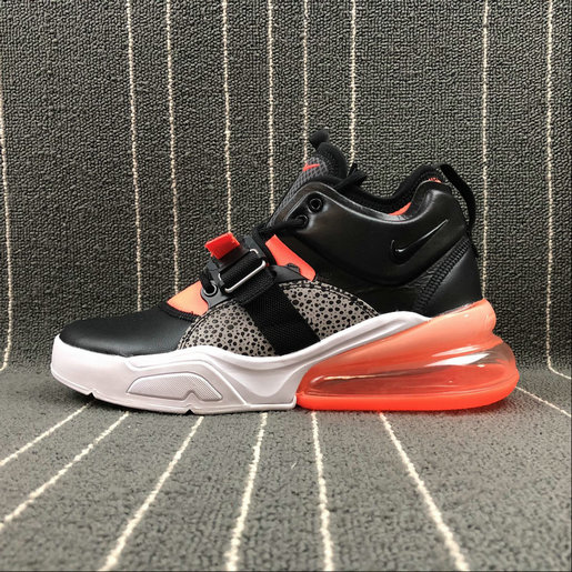 Nike Air Force 270 AH6772-004 Black Leopard print Orange