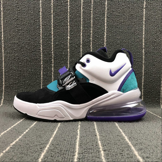 Nike Air Force 270 AH6772-005 Black White Purpel Blue Women Shoes