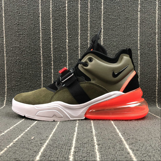Nike Air Force 270 AH6772-200 ArmyGreen White Orange