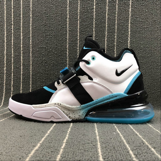 Nike Air Force 270 AJ8208-100 Black White Blue