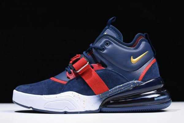 Cheap Nike Air Force 270 Dream Team Obsidian Metallic Gold-Gym Red-White AH6772-400