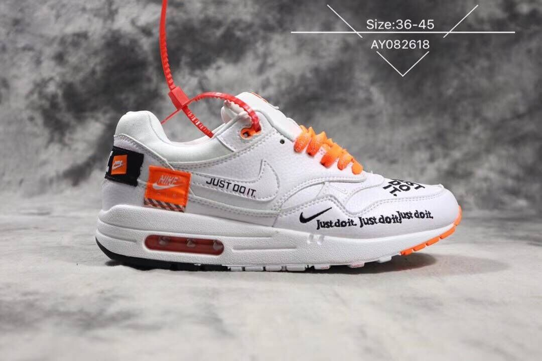 Nike Air Max 1 Master Deluxe White Orange Black Just Do It