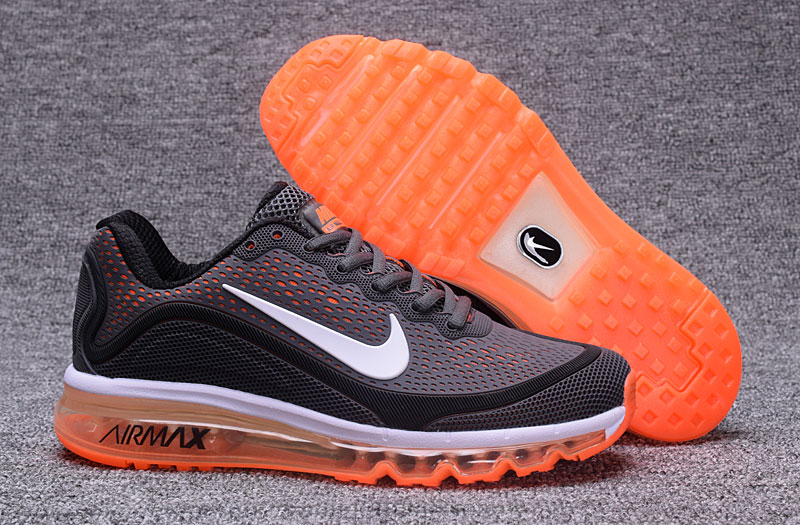 Nike Air Max 2017 Orange Grey Black 898013-120 Cheap Air Max