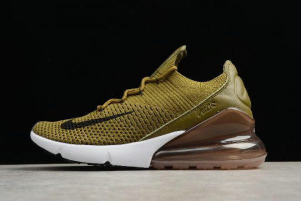 Cheap Nike Air Max 270 Flyknit Olive Flak Army Green Black-Coffee White AO1023-300