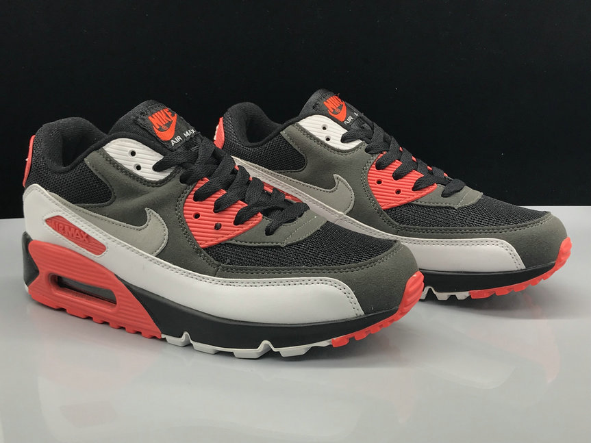 Nike Air Max 90 Classic Grey Black White Red