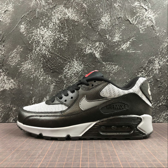 Nike Air Max 90 Essential 537384-065 Black Grey Red Noir Gris Rouge