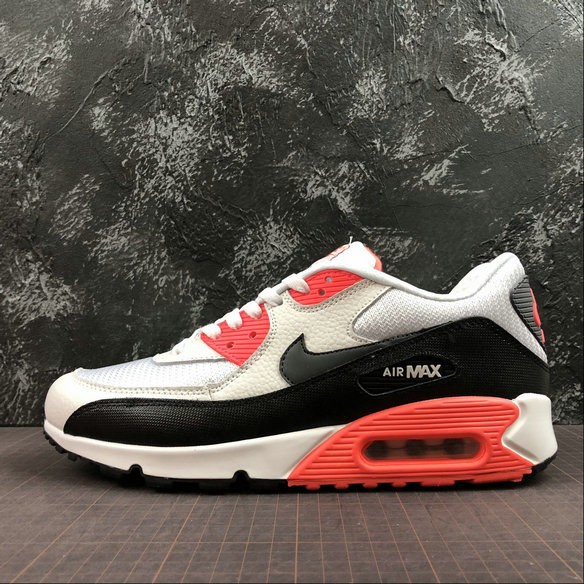 Nike Air Max 90 Essential 537384-126 Black White Orange Red Noir Blanc Orange Rouge