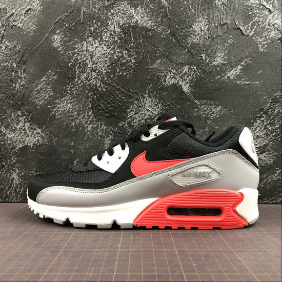 Nike Air Max 90 Essential AJ1285-012 Wolf Grey Bright Crimson Black Gris Loup Noir Cramoisi Vif