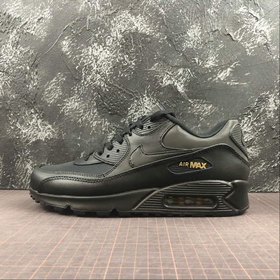 Nike Air Max 90 PREMIUM 3M 700155-011 Black Metallic Gold Noir OR Metallique Noir