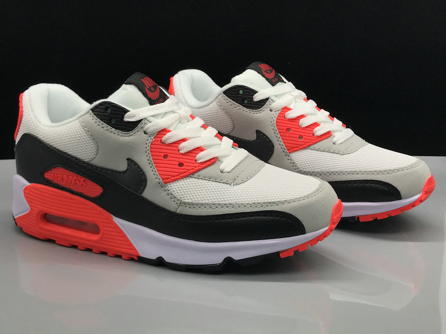 Nike Air Max 90s Classic Red Grey White Black