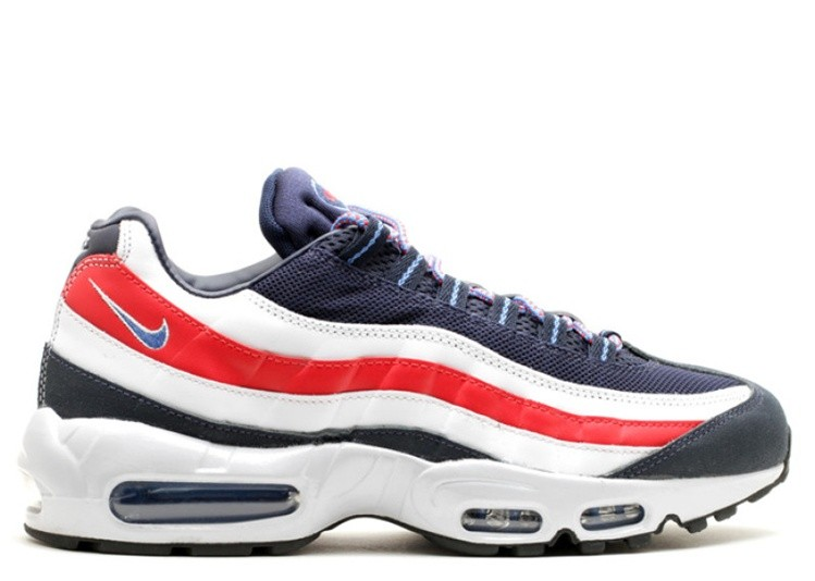 Cheap Nike Air Max 95 City Qs London 667637-400 Midnight Navy Distance Blue-White-Challenge Red