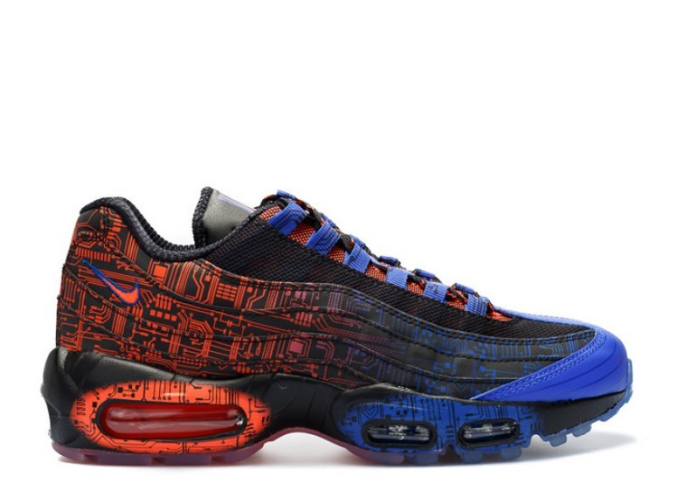 Cheap Nike Air Max 95 Premium Db Bg Doernbecher 839166-064 Black Black-Bright Crimson-Racer Blue