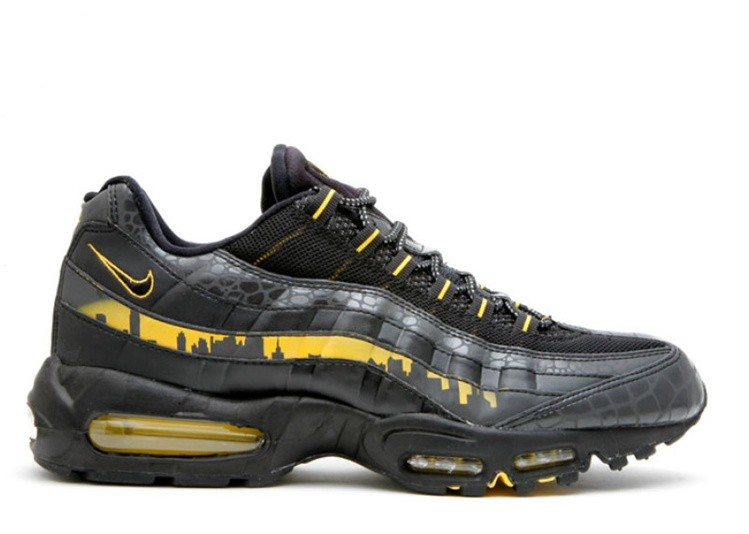 Cheap Nike Air Max 95 Premium Nyc Blackout New York City Pack 330795-001 Black Black-Varsity Maize