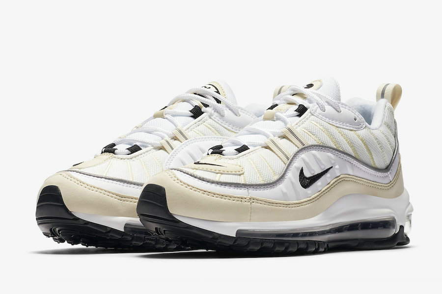 Nike Air Max 98 AH6799-102 Sail White Black-Metallic Silver-Sail