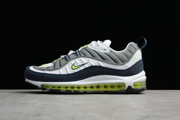 Cheap Nike Air Max 98 OG Volt Cool Grey Volt-Black-Metallic Silver Mens Size