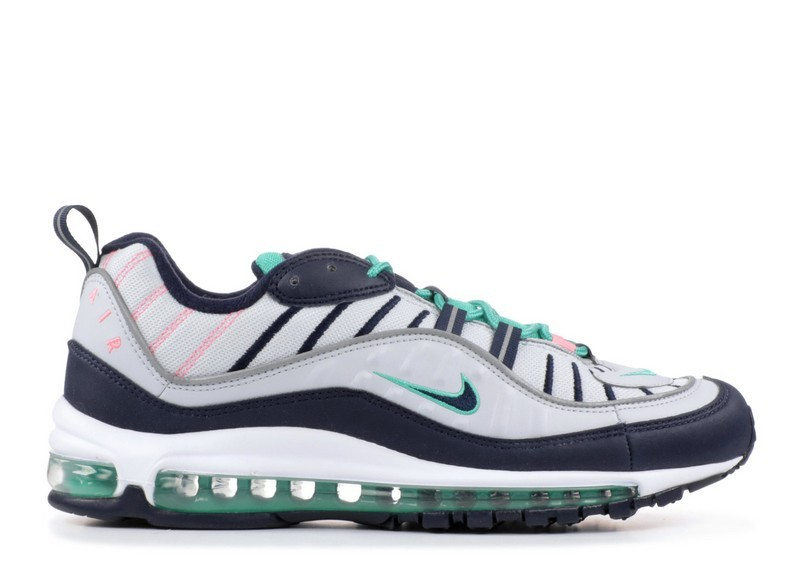 Cheap Nike Air Max 98 South Beach 640744-005 Pure Platinum Obsidian Kinetic Green