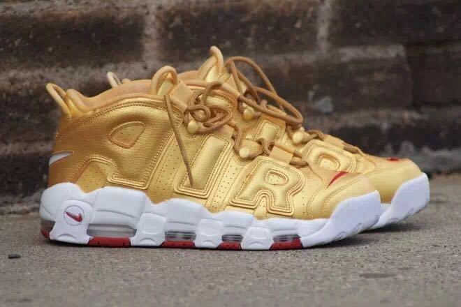 Nike Air More Uptempo Metallic Gold 2017 For Sale
