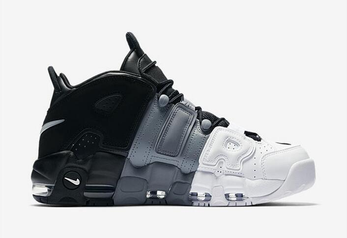 Nike Air More Uptempo Tri-Color Black Cool-Grey-White For Sale