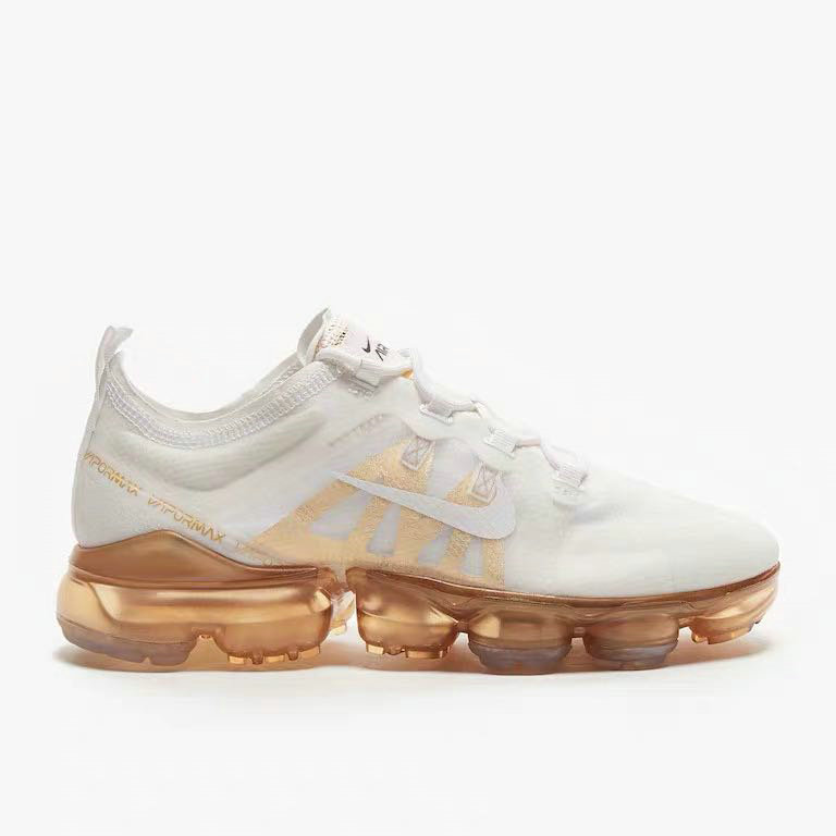 Nike Air VaporMax 2019 Premium White White-Metallic Gold AR6632-101