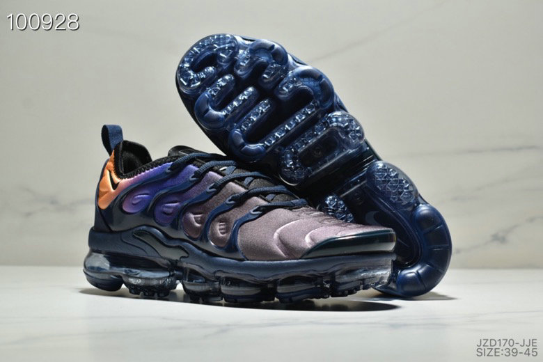 Nike Air VaporMaxs Plus Orange Purple Black