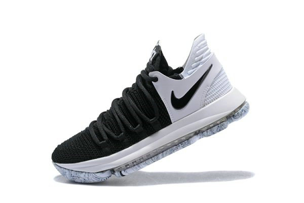 Cheap Nike KD 10 Black White Mens Basketball Shoes 897815-008