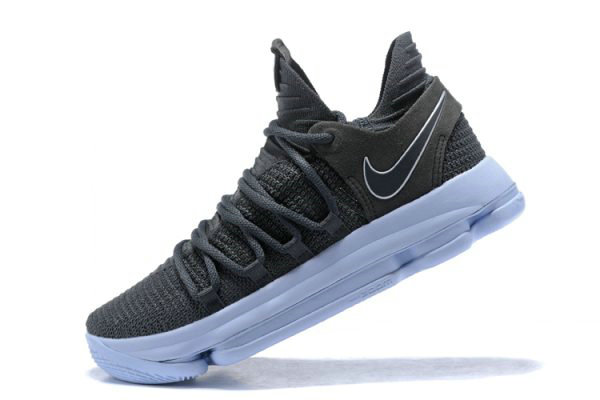 Cheap Nike KD 10 Dark Grey Reflective Silver Mens Basketball Shoes 897815-005