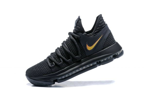 Cheap Nike KD 10 PK80 Black Metallic Gold Mens Basketball Shoes