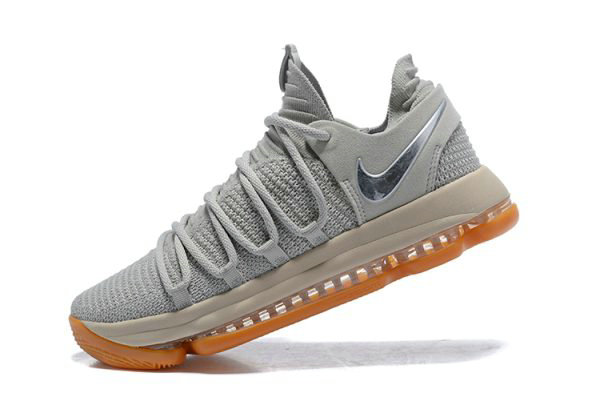 Cheap Nike KD 10 Pale Grey Light Bone-Gum Mens Basketball Shoes 897817-001