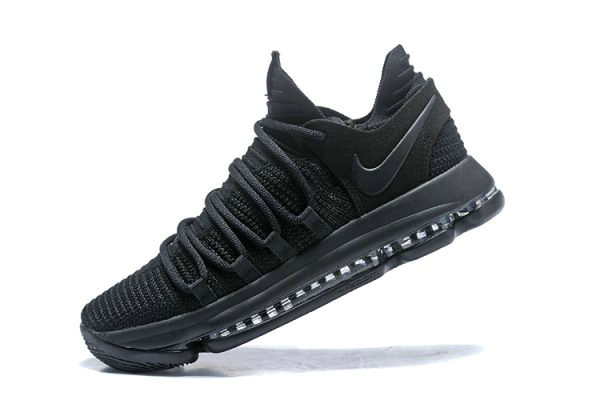 Cheap Nike KD 10 Triple Black Mens Basketball Shoes 897816-004
