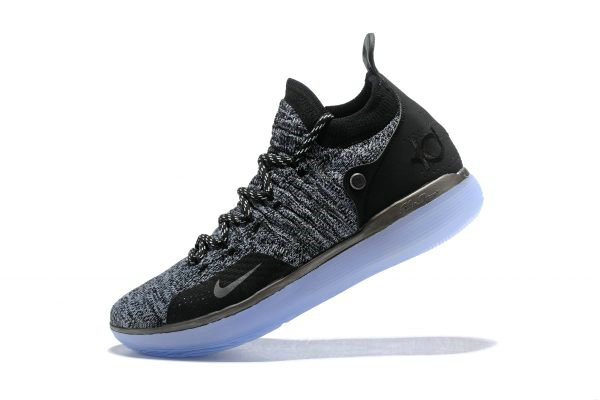 Cheap Nike KD 11 EP Oreo Black Grey Kevin Durants Signature Basketball Shoes AO2605-004