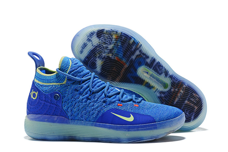 Nike KD 11 Paranoid AO2604-900 Multi-Color Blue Yellow