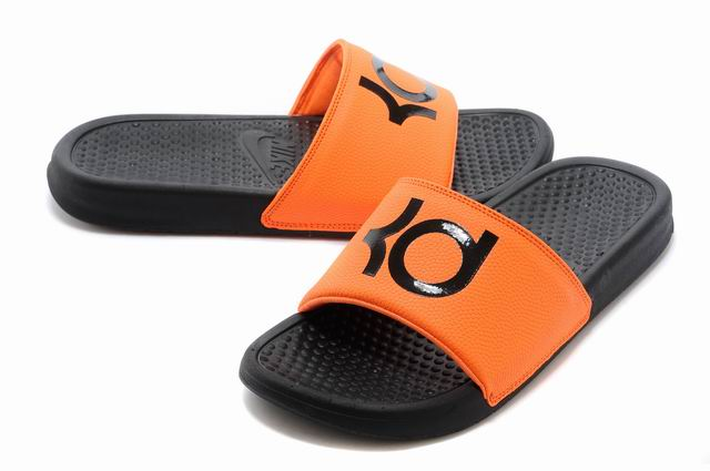 check out 9ef8c 8e9ba Nike KD Black Orange Slippers For Sale - Cheap Nike Air ...