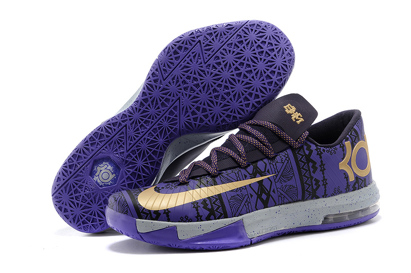 Nike Kevin Durant KD 6 VI BHM Purple Venom Metallic Gold-Purple Dynasty For Sale
