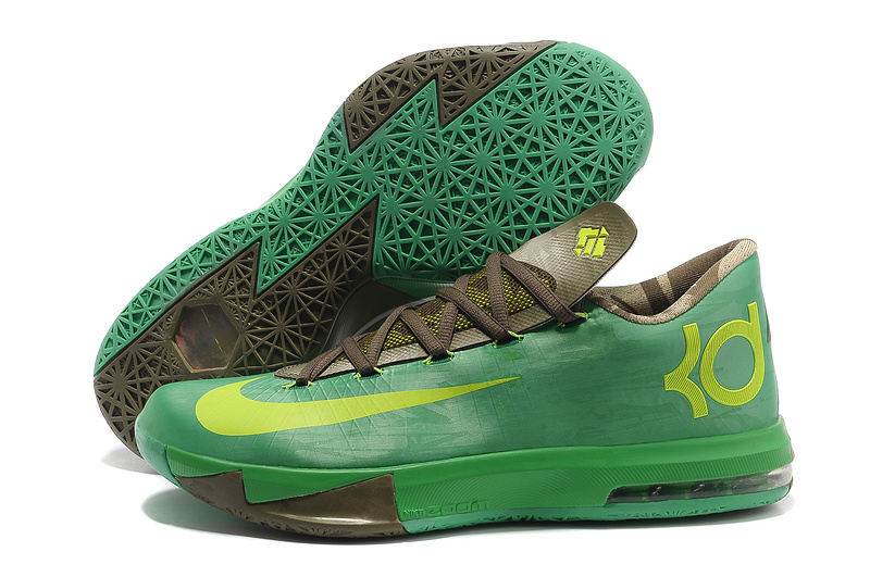 Nike Kevin Durant KD 6 VI Bamboo Gamma Green Flash Lime-Raw Umber-Linen-Deep Smoke