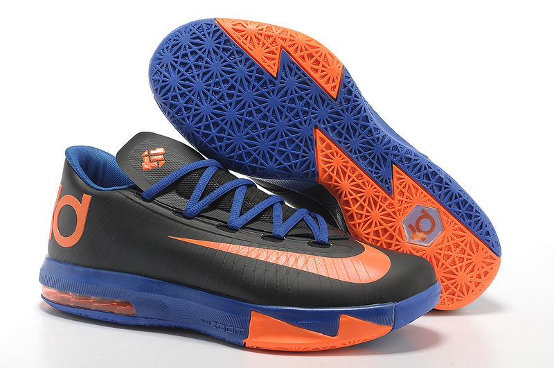 Nike Kevin Durant KD 6 VI Black-Orange Royal Blue For Sale
