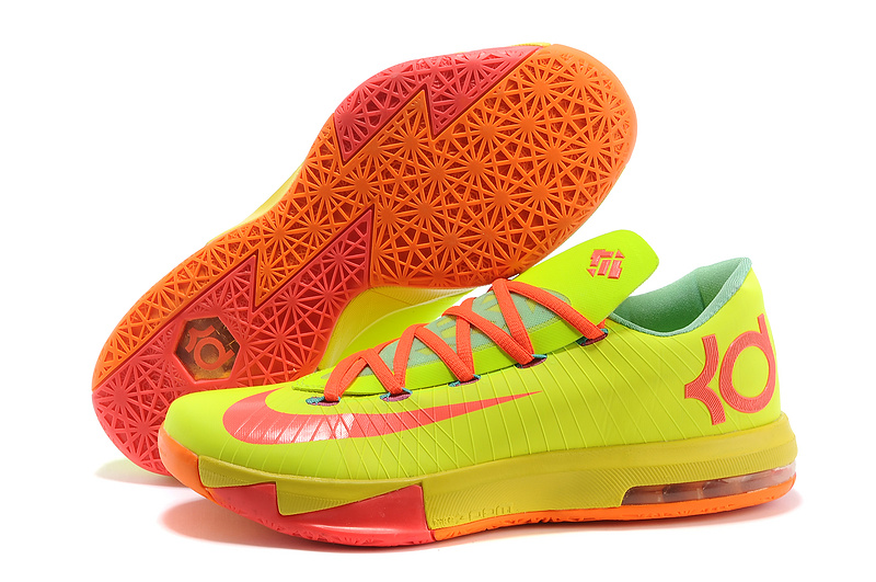 Nike Kevin Durant KD 6 VI Drew League PE Yellow Pink Orange For Sale