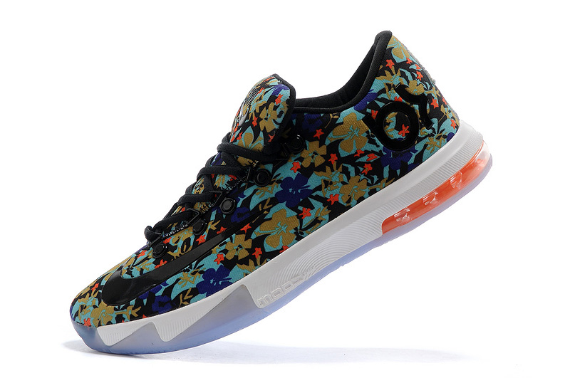Nike Kevin Durant KD 6 VI EXT QS Floral Multi-Color Black For Sale