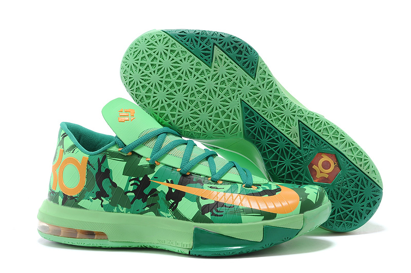 Nike Kevin Durant KD 6 VI Easter Light Lucid Green Atomic Mango-Lucid Green-Gorge Green-Black