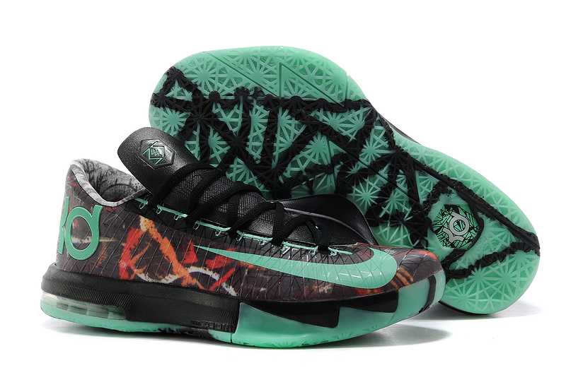 Nike Kevin Durant KD 6 VI Illusion All-Star Multi-Color Green Glow-Black For Sale