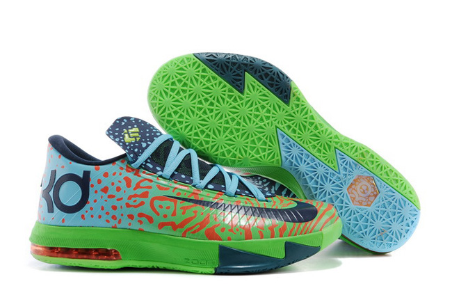 Nike Kevin Durant KD 6 VI Liger Electric Green Night Factor-Atomic Orange For Sale