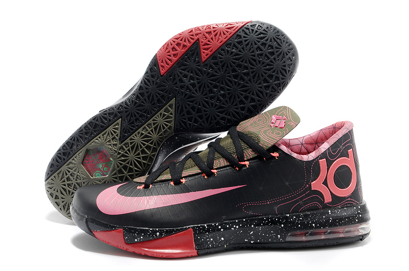 Nike Kevin Durant KD 6 VI Meteorology Black Atomic Red-Medium Olive-Noble Red For Sale
