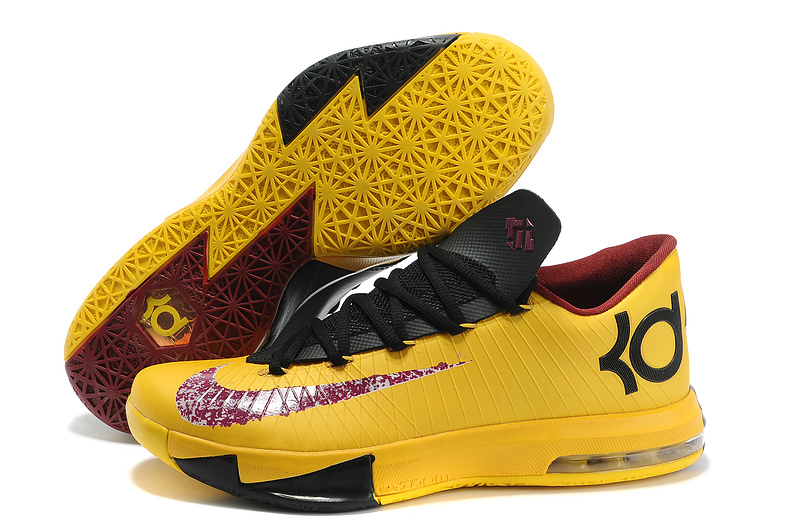 Nike Kevin Durant KD 6 VI PBJ Maze Yellow Dark Purple-Black For Sale