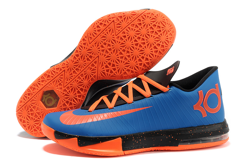 Nike Kevin Durant KD 6 VI Royal Blue Black-Orange For Sale